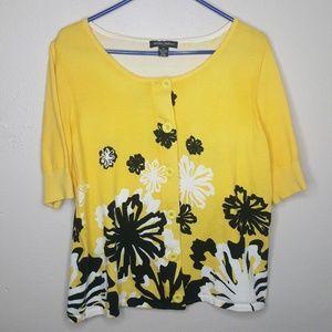 Designers Originals Yellow Cardigan Sweater N
